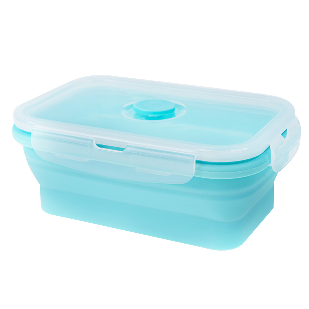 Silicone Folding Lunch Box Bowl Portable Picnic Storage Food Container Tableware