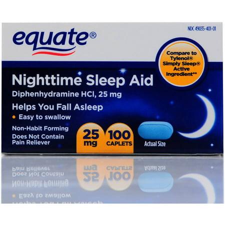 Equate Nighttime Mini-Caplets Sleep Aid 100 Ct