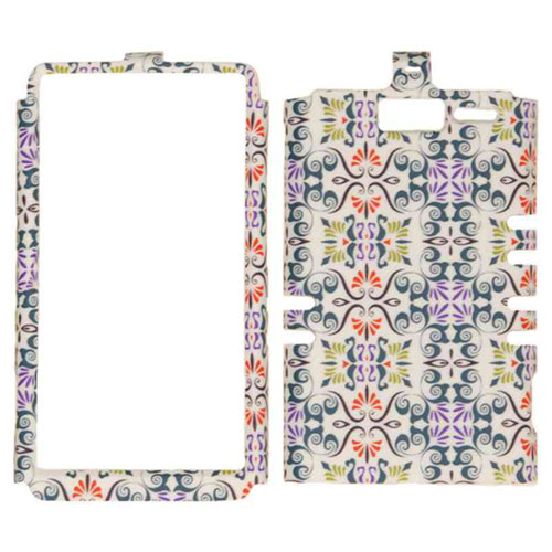 Rocker Series Snap-On Protector Case for Motorola XT907 / Droid Razr M  (Small Flower Design)