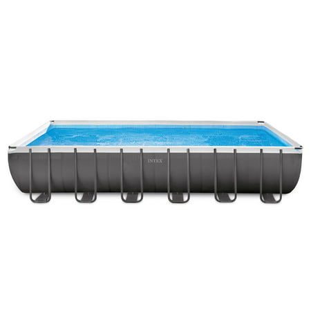 Intex 24 x 12 x 4.3 Foot Ultra Frame Rectangular Swimming Pool Set | 26361EH