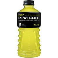 POWERADE Lemon Lime, ION4 Electrolyte Enhanced Fruit Flavored Sports Drink w/ Vitamins B3, B6, and B12, Replinish Sodium, Calcium, Potassium, Magnesium, 32 fl oz