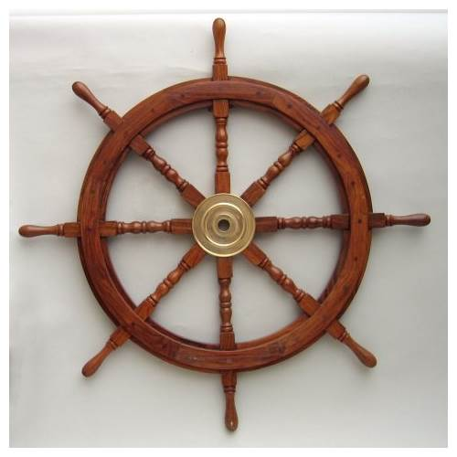 Ship Wheel - 36 in. Teak Wood