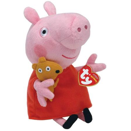 Peppa Pig Regular Plush, Polyester fibers By Ty Beanie Babies ()