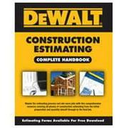 DeWalt 9781435498990 Book, Construction Estimating Complete Handbook, 1st Edition, English