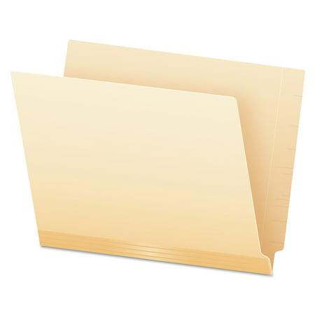 Pendaflex Laminate Spine Shelf File Folder, Straight Tab, 14 pt Manila, Letter, 50/Box -PFX11230