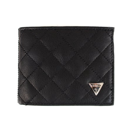Guess Men's Black Leather Double Billfold Passcase (Passcase Billfold)