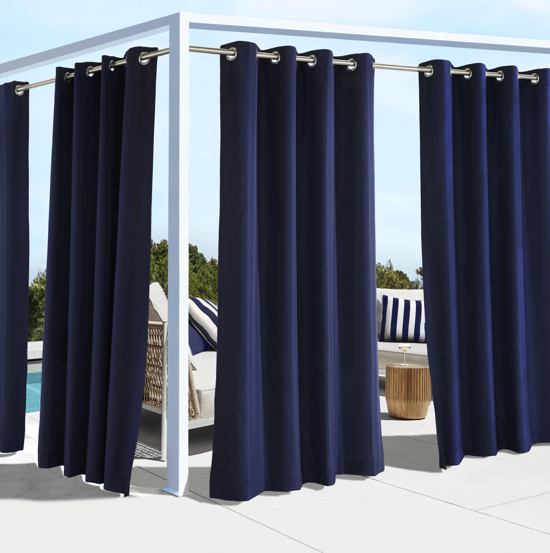 Outdoor Decor Costal Solid Grommet Panel
