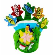 Get Ready 742 Wide Mouth Bullfrog and Friends glove puppet and CD