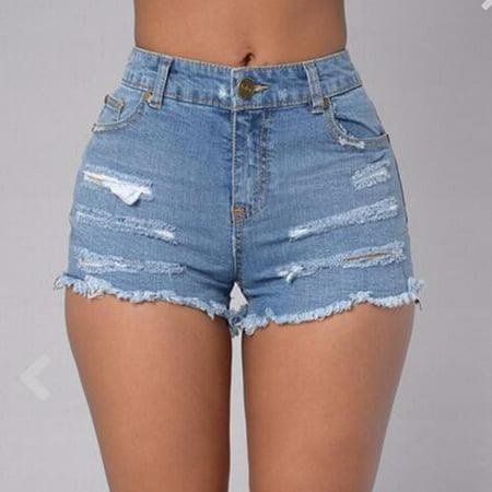 Summer Women High Waist Pants Hot Pants Casual Denim Shorts Summer Womens Shorts