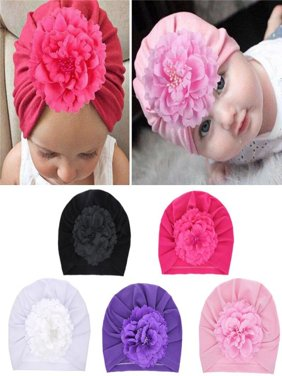Newborn Baby Girls Boys Turban Hat Head Wrap Toddler Beanie Caps Headwear