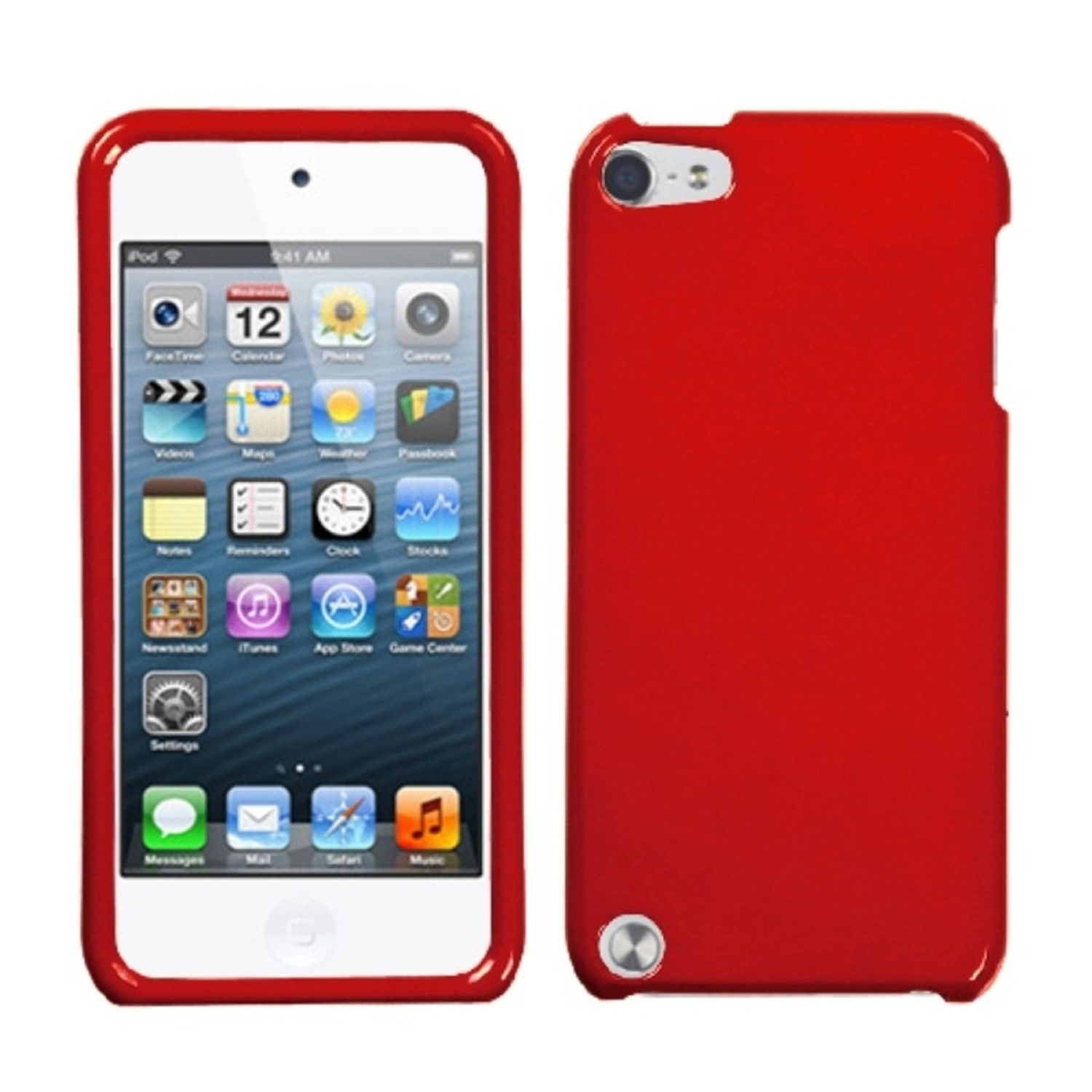 Insten Solid Flaming Red Phone Case for iPod touch (5 5G 5th 6 6G 6th Gen)
