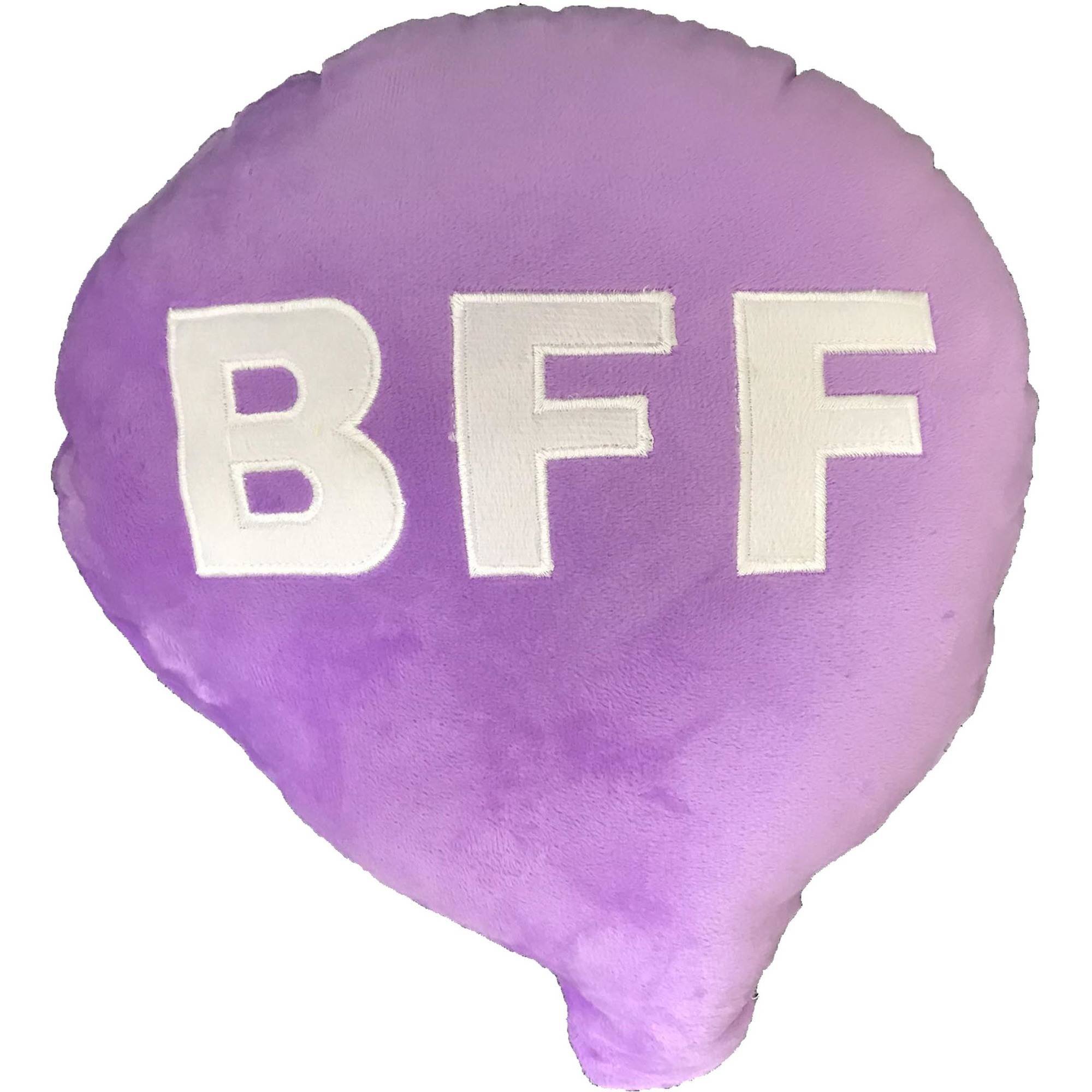 Purple BFF Emoji Cushion