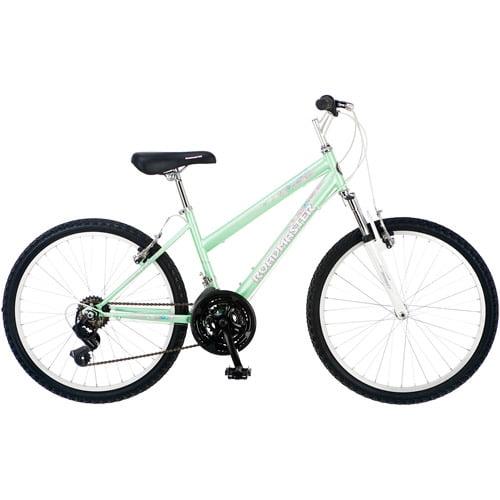 "Roadmaster Granite Peak 24"" Girls' Mountain Bike, Light Green"