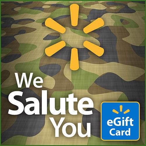 We Salute You Walmart eGift Card