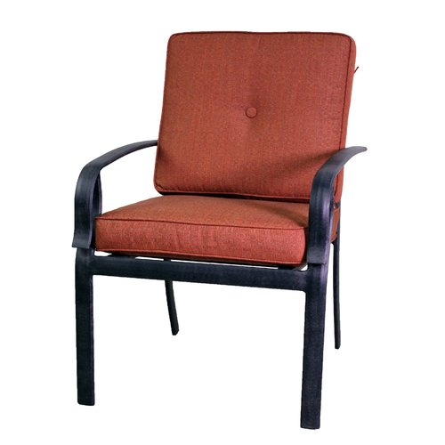 Red Barrel Studio Waynesburg Patio Dining Chair with Cushion (Set of 2)