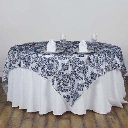 Efavormart Damask Flocking Table Overlay 90