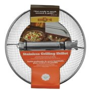 Mr. Bar-B-Q Stainless Steel Mesh Grilling Skillet - Removable Handle