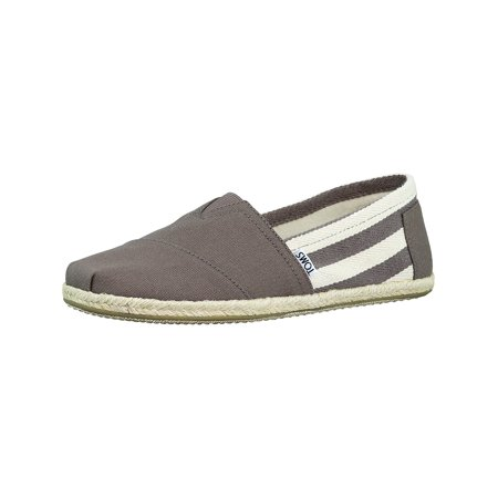 Girls Toms On Sale (Toms Men's Classic Canvas Dark Grey Stripe Ankle-High Flat Shoe -)