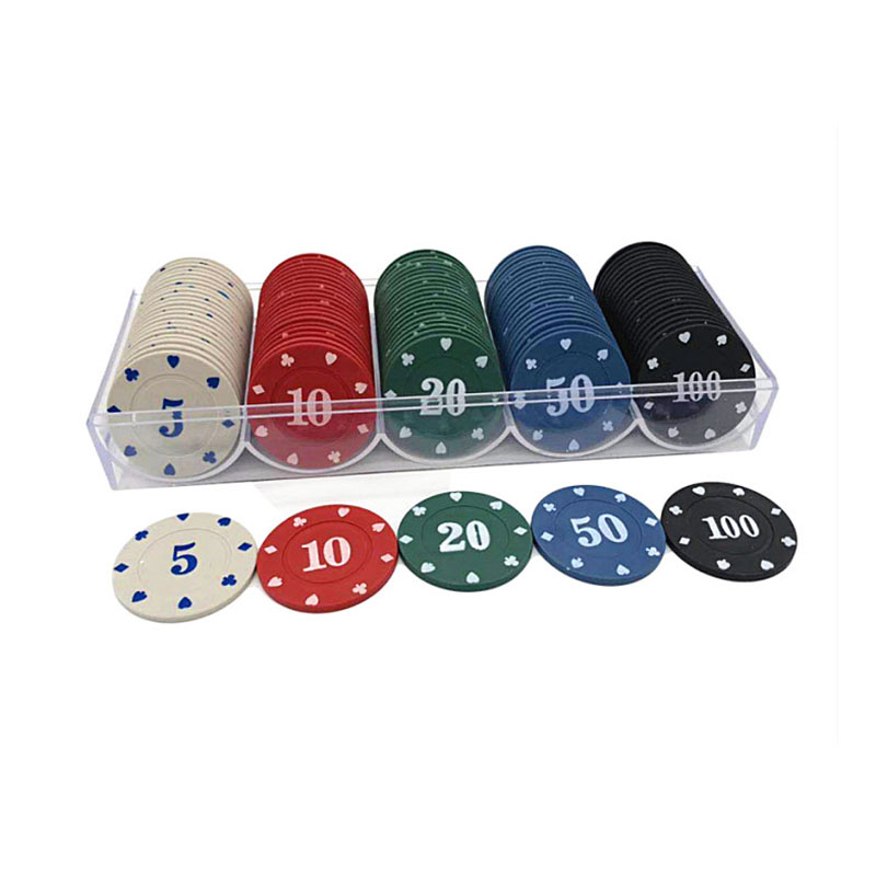 100pcs Professional Poker Chips Set Casino Supply Hilarious Games Accessory