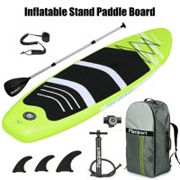 FBSPORT 10ft Fruitgreen Brushed Thickening Inflatable Stand Up Paddle Board with Complete Accessories & Carry Bag, Wide Stance, Surf Control, Non-Slip Deck, Standing Boat, Durable and Lightweight