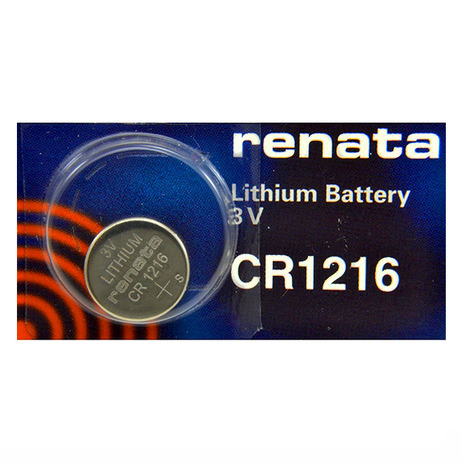 Renata CR1216-SC 25mAh 3V Lithium Primary (LiMNO2) Coin Cell Battery