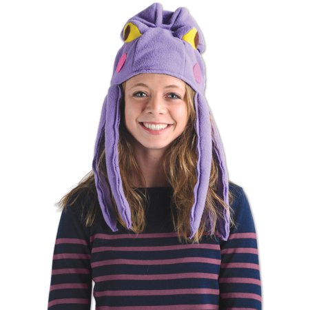 Sea Life Aquatic Plush Purple Octopus Hat With Tentacles Costume Accessory