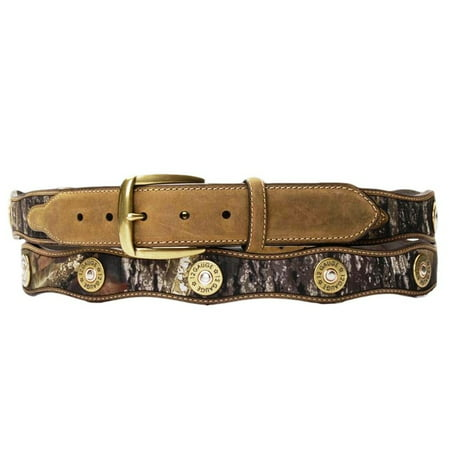 Nocona Western Belt Mens Leather Shotgun Shell Camo N24366222