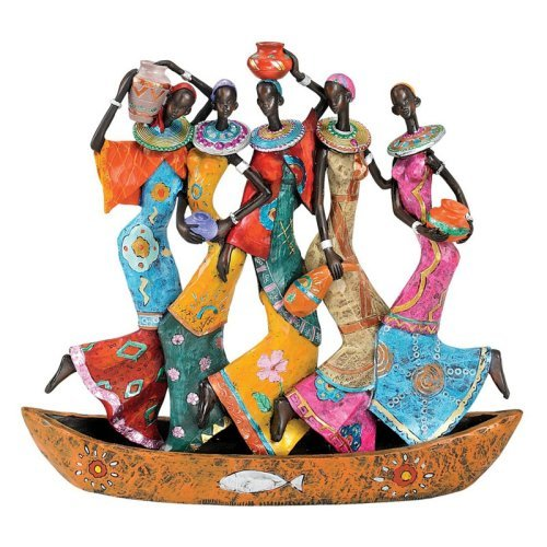 Design Toscano 10.5H in. The Maiden Water Carriers of Ghana Sculpture