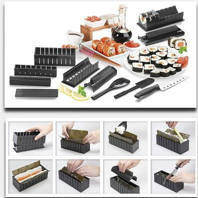 Cookware New Sushi Maker Kit Rice Roll Mold Kitchen DIY E...