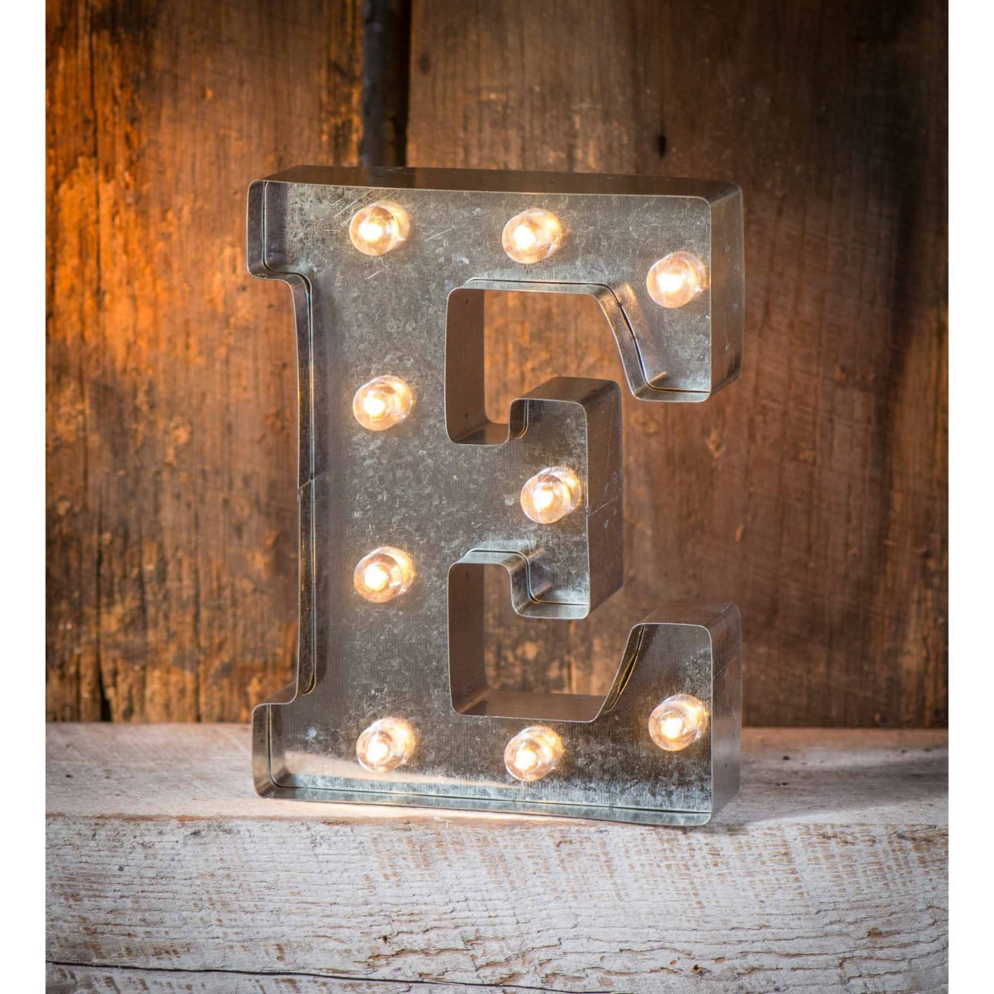 Light-Up Marquee Letter E
