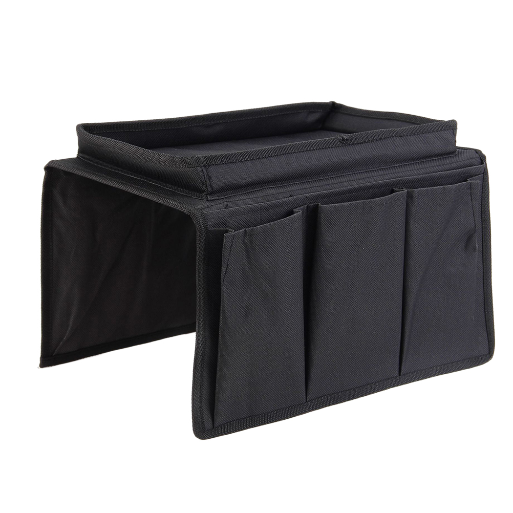 Sofa Armrest Organizer with 4 Pockets and Cup Holder Tray ...