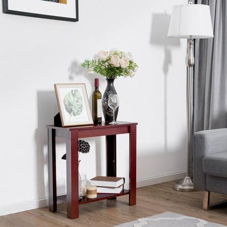 Chair side table coffee sofa wooden end shelf living room - Walmart canada furniture living room ...