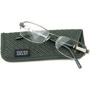 Foster Grant Men's Carlos Reading Glasses, Silver