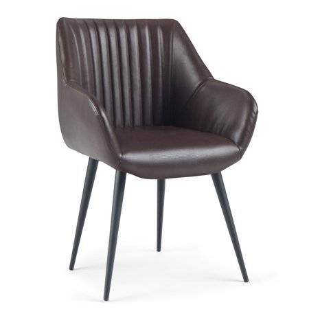 Incredible Brooklyn Max Eason Mid Century Modern Stitched Back Dining Side Chair In Cognac Faux Leather Gamerscity Chair Design For Home Gamerscityorg