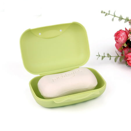 2 Pack Travel Soap Dish Box Holder Container Shower Bathroom