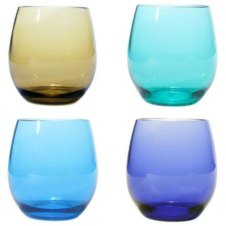 Oenophilia Plastic Stemless Wine Glasses - Set of 4](Acrylic Stemless Wine Glasses)