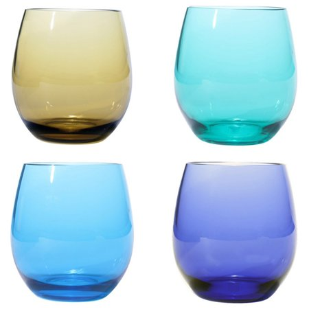 Oenophilia Plastic Stemless Wine Glasses - Set of - Stemless Wine Glasses Plastic