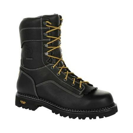Men's Georgia Boot GB00272 AMP LT Logger Composite Toe Work Boot Composite Work Boots