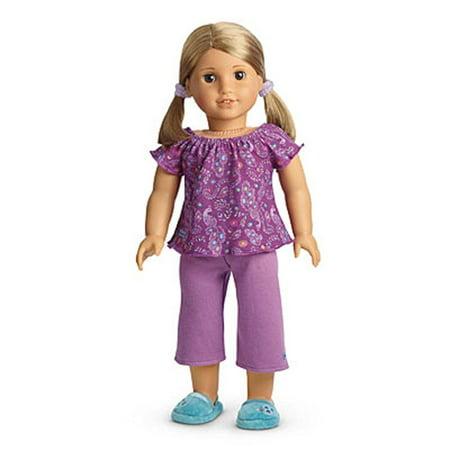 american girl my ag purple peacock pjs pajamas for dolls + charm ()