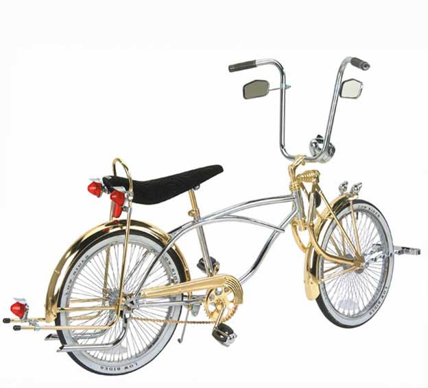 "20"" Deluxe Lowrider Bike, Chrome & Gold"