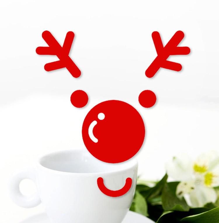 Merry Christmas Elk Deer Head Wall Sticker Home Shop Windows Decals Decor