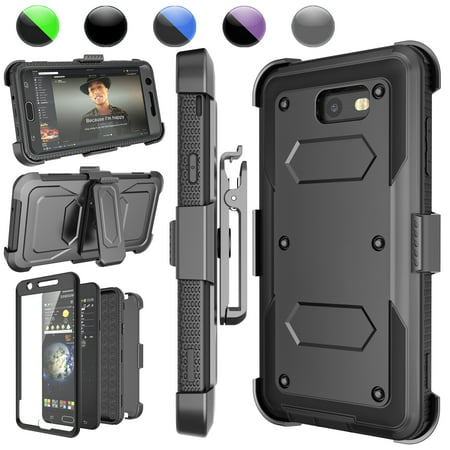 - Galaxy J7 Perx Case,Galaxy J7 Sky Pro Case,J7 V/J7V Holster Clip, Njjex [Black] [Built-in Screen] with Kickstand + Holster Belt Clip Carrying Armor Case Cover For Samsung J7 2017 Released