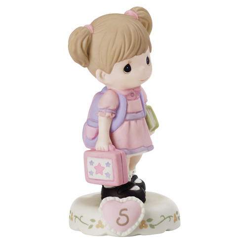 Precious Moments 152011B Growing In Grace, Age 5 Girl Bisque Porcelain Figurine Brunette by Precious Moments