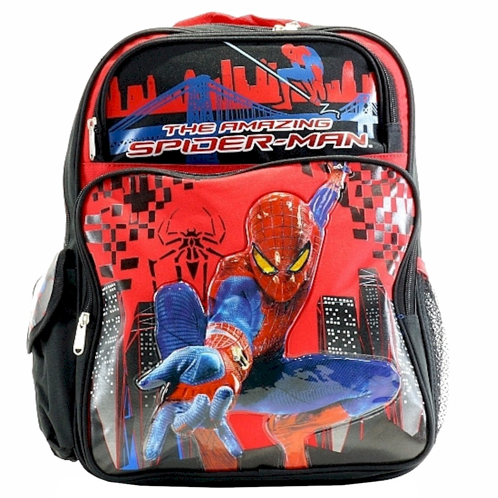 The Amazing Spiderman Black/Red Backpack Bag