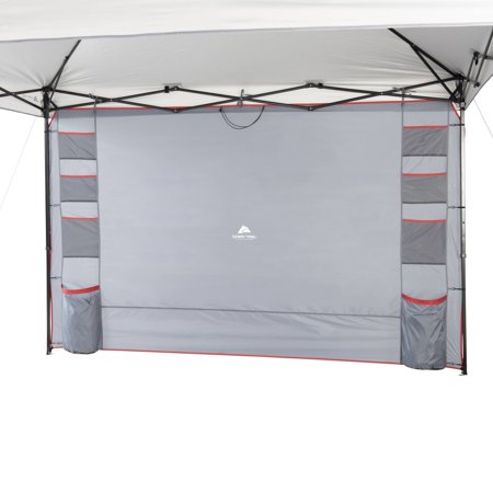 Ozark Trail Shade Wall with 10 Organizer Pockets for 10' x 10' Straight-Leg