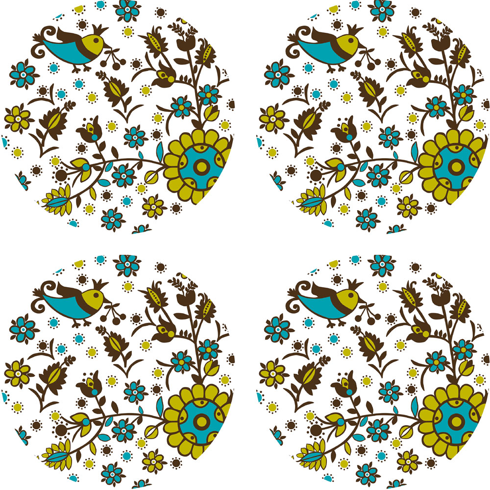 Brewster Home Fashions 12505259 Anya Dots Floral Circle Wall Accent Stickers