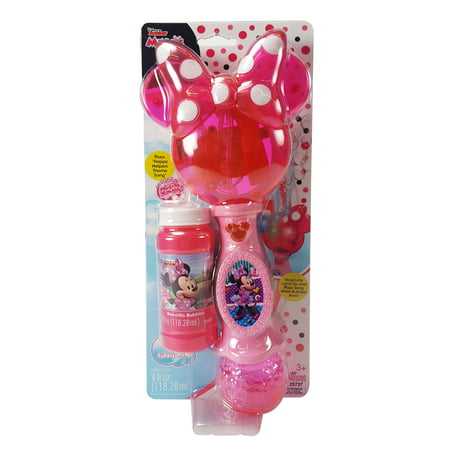 Minnie Light and Sound Bubble Wand