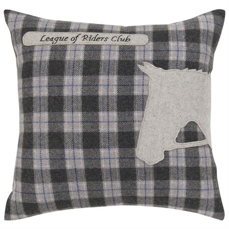 Surya Riders Plaid Decorative Pillow