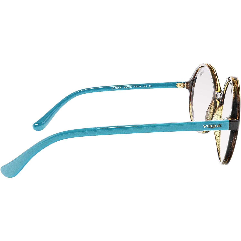 Vogue Women's Gradient Dark Havana VO5036S-W65648-52 Brown Round Sunglasses - image 1 de 3