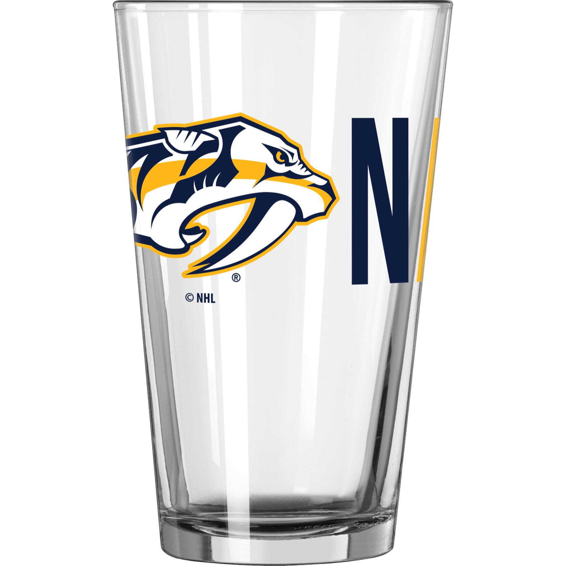 NHL Nashville Predators 16 oz. Overtime Pint Glass